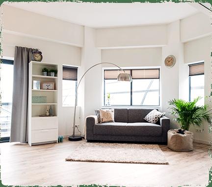 Tijdelijke woonruimte in onze 25 short stay hotel appartementen. Eigen keuken, badkamer en balkon. Verblijf van 2 nachtentot 8 maanden. Schoonmaak incl.